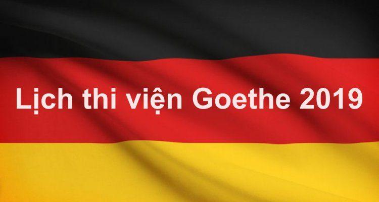 Lịch thi viện Goethe 2019