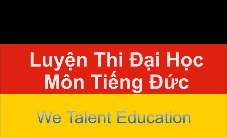 luyện thi đại học tiếng Đức - We Talent Education tại Long Biên