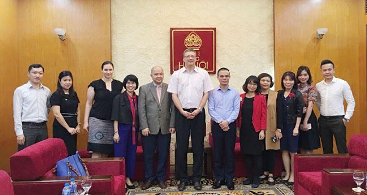 Cơ quan Hàn lâm Đức DAAD đến thăm trường Đại học Hà Nội