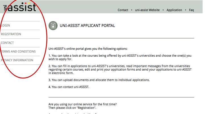 Đăng ký tài khoản Uni-assist