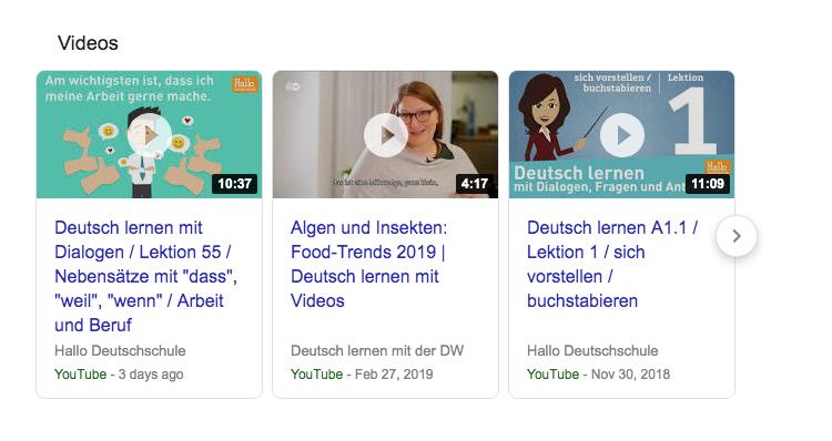 Học tiếng Đức qua video luyện nghe rất tốt