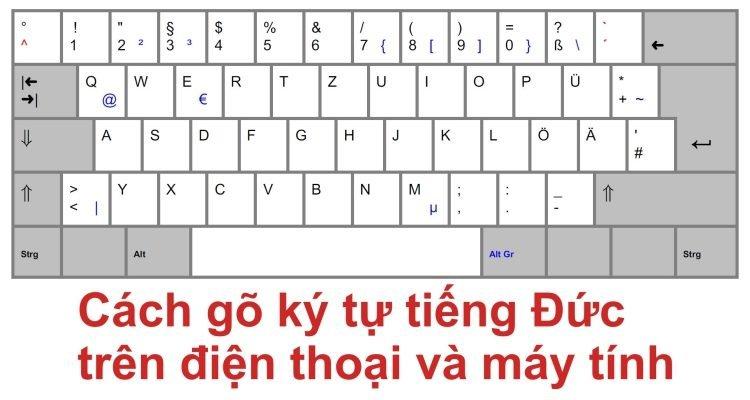 Hướng dẫn gõ bàn phím tiếng Đức trên điện thoại và máy tính