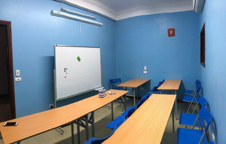 cơ sở vật chất lớp học tiếng Đức Long Biên