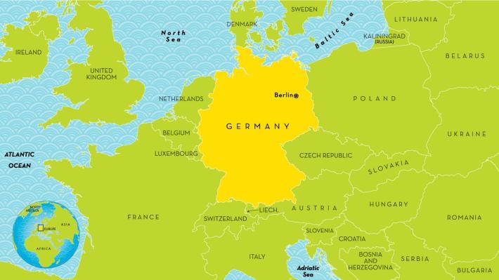 Deutsch là nước nào? vị trí nước Đức