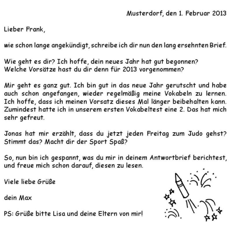 Thư và Email tiếng Đức thân mật