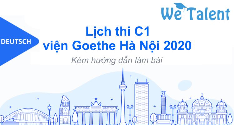 Lịch thi C1 viện Goethe Hà Nội 2020