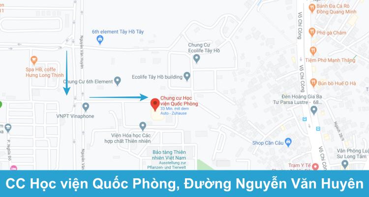 P903 Toà Tây, CC Học viện Quốc Phòng, Đường Nguyễn Văn Huyên kéo dài, Q. Tây Hồ. Lịch khai giảng Cầu Giấy