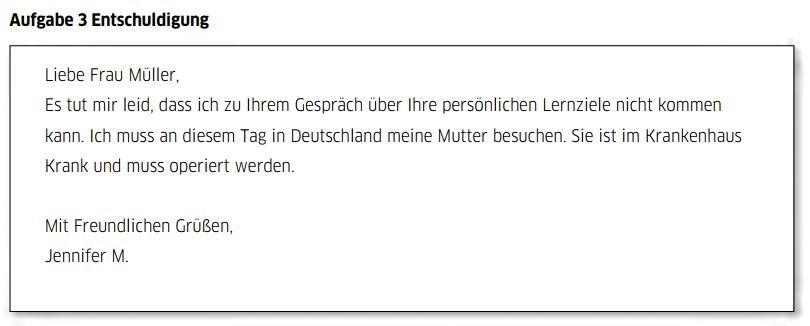 Teil 3 đề viết B1 tiếng Đức