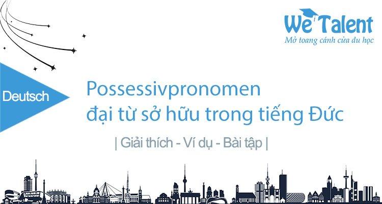 Possessivpronomen - Đại từ sở hữu trong tiếng Đức