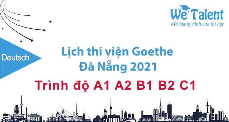 Lịch thi tiếng Đức ở Đà Nẵng 2021