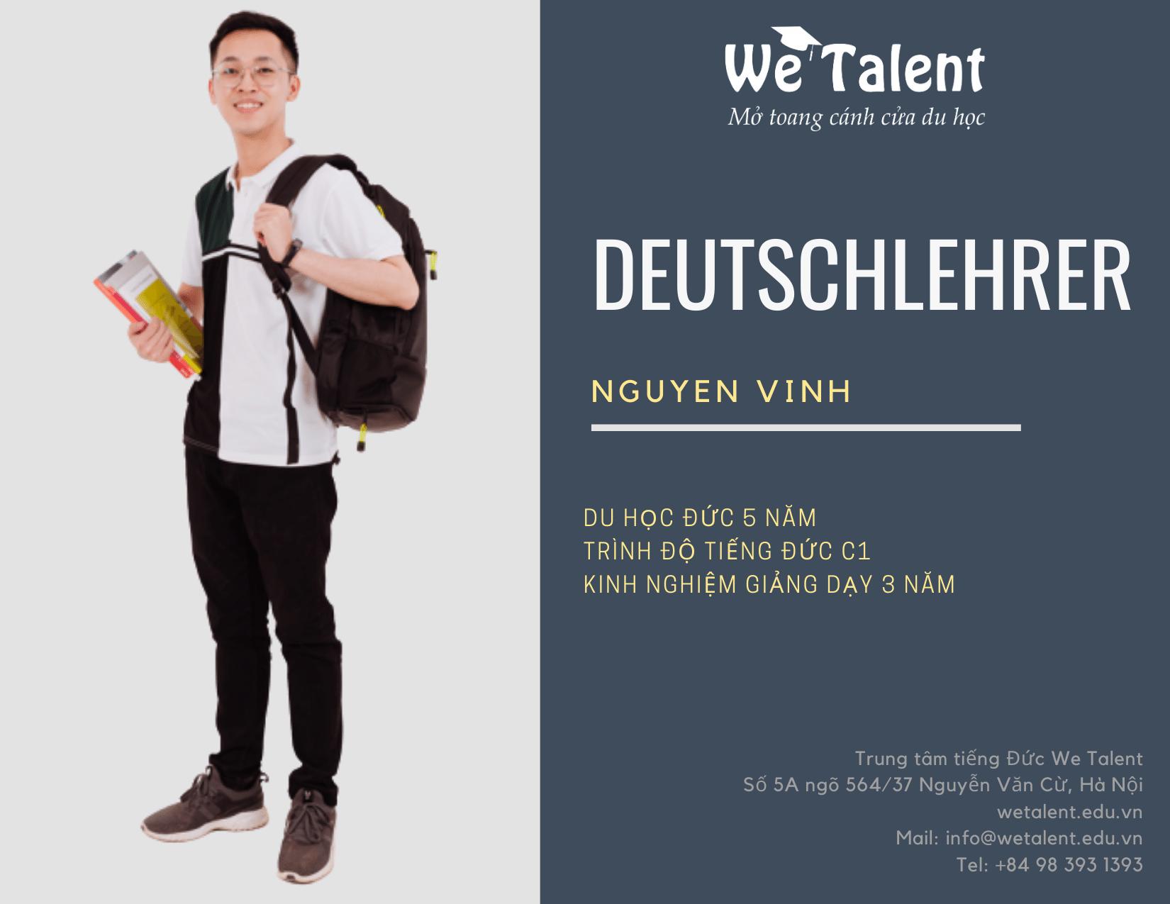 đội ngũ giáo viên tại we talent Học Tiếng Đức Online